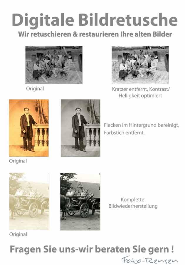 Wir retuschieren & restaurieren Ihre alten Fotos