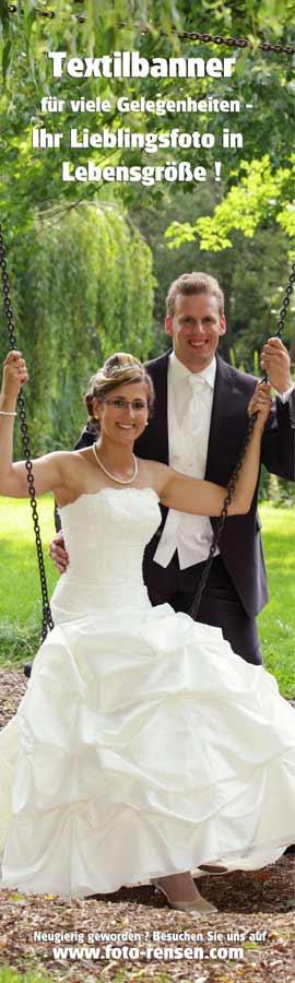 Textilbanner für Hochzeiten oder Geburtstage!